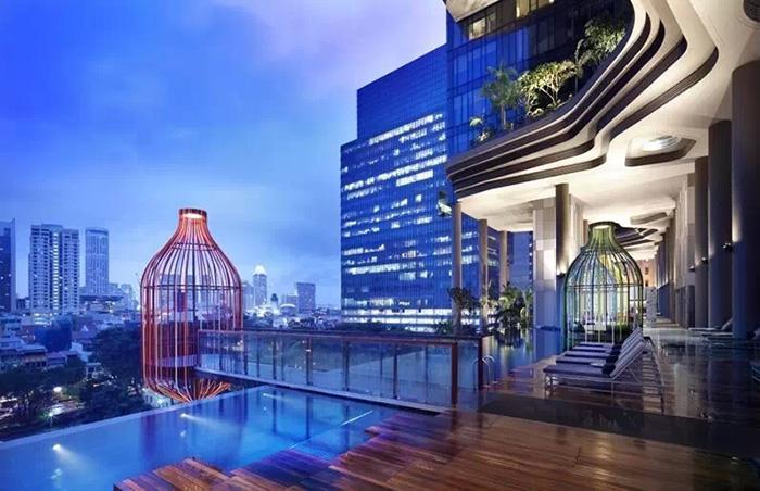 Irregular Aluminum Veneer Decoration Parkroyal Garden Hotel Singapore