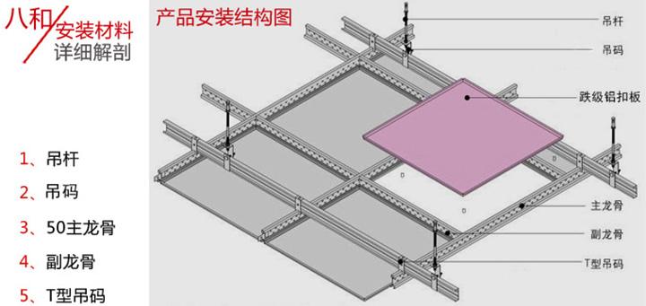明架铝扣板吊顶安装结构