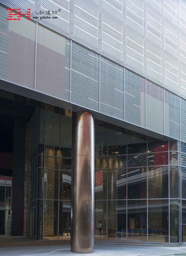 菲律宾马尼拉市中心大厦外墙金属冲孔板4