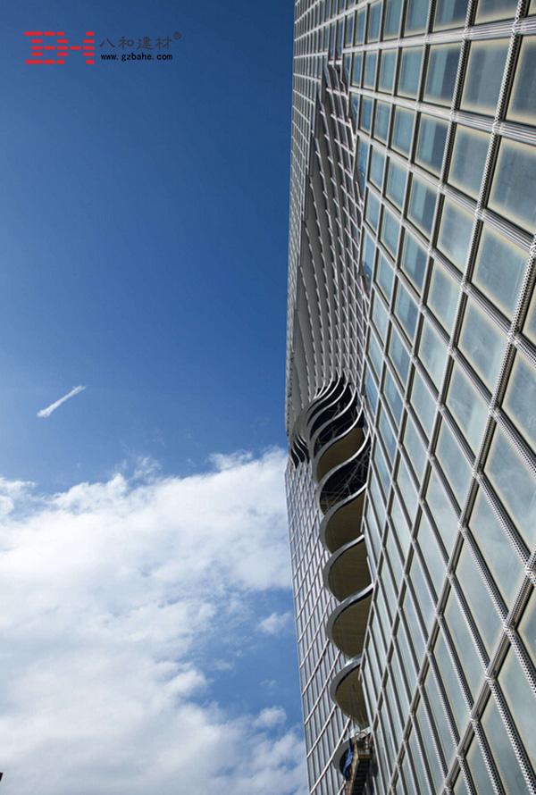 菲律宾马尼拉市中心大厦外墙金属冲孔板5