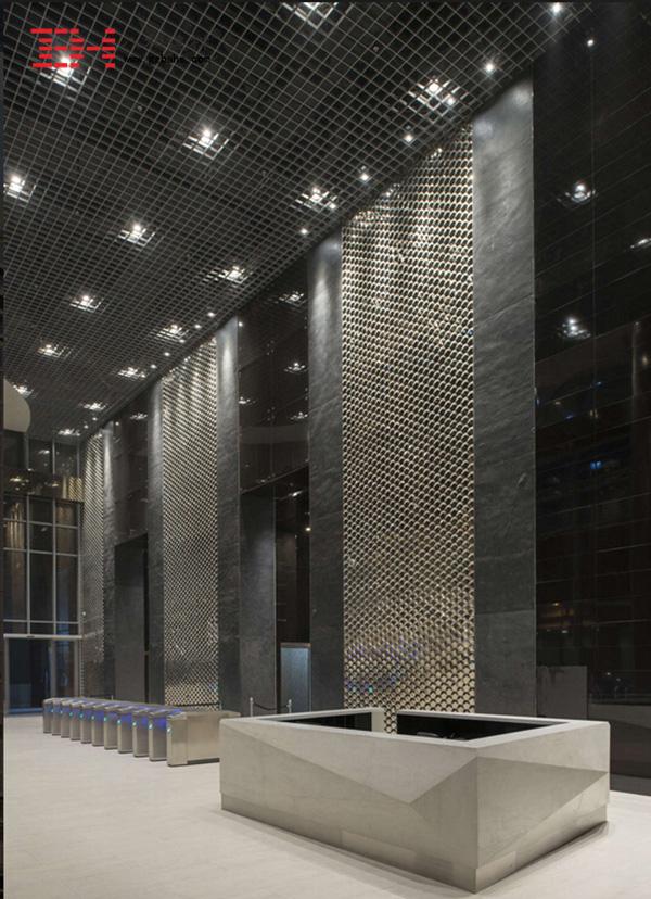菲律宾马尼拉市中心大厦外墙金属冲孔板6
