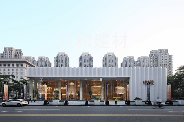 Silver Gray Perforated Aluminum Veneer Decoration Changan Dingfeng Yuejing Marketing Center