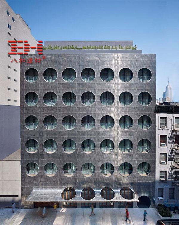 Perforated aluminum veneer curtain wall Decoration Dream Downtown Hotel