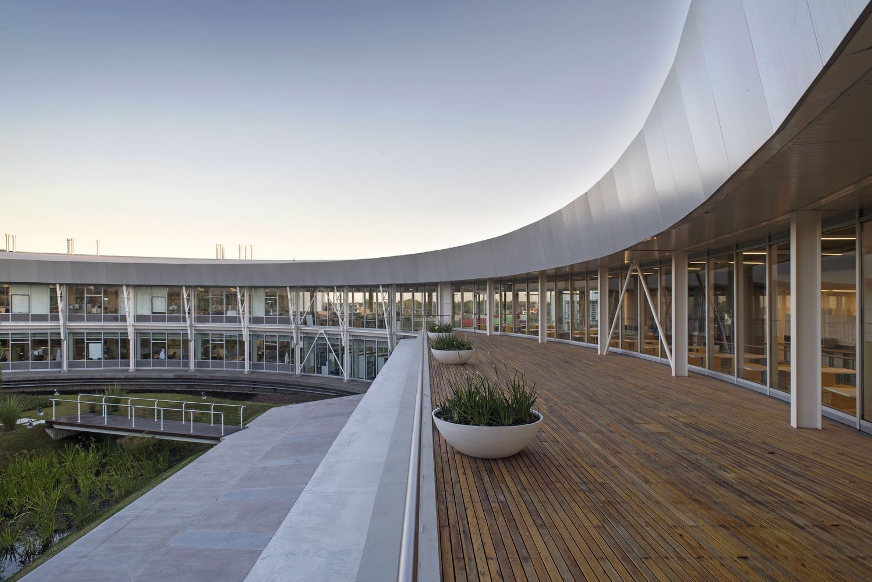 Anodized Aluminum Veneer Decorative Ring Experimental Building