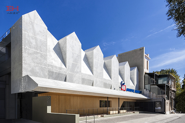 Art Exterior Wall Hollow Aluminum Veneer To Create Fresh Thanopoulos Supermarket