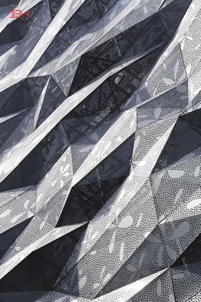 Dear Ginza Building - Art Exterior Stenciled Aluminum Veneer For A Gorgeous Look