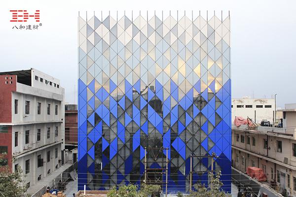Shaped Aluminum Veneer Decoration Tri-Tessellate Building Facade