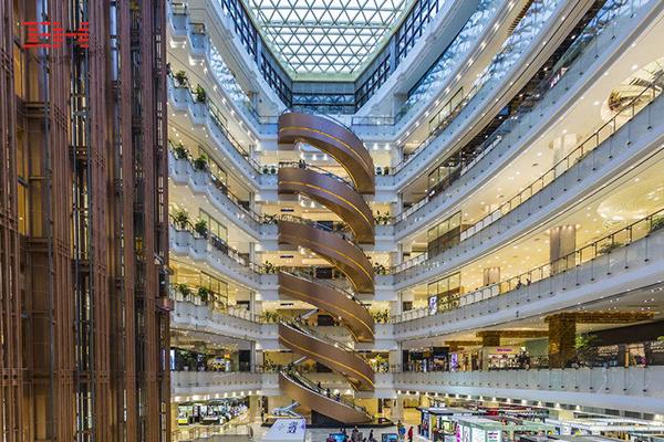 商场 购物中心电梯区域与中庭过道区域铝单板案例欣赏09.jpg