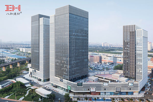 Curtain Wall Aluminum Veneer To Create Giant Louver Effect In Tianjin New City Center