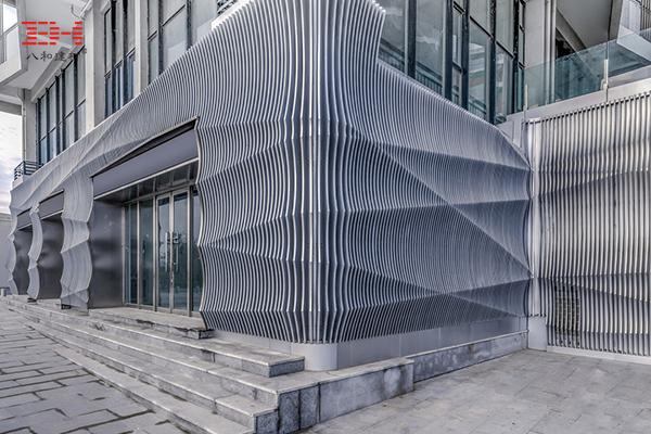 """案例欣赏:铝板装饰青岛""""垂直的潮汐""""立面"""