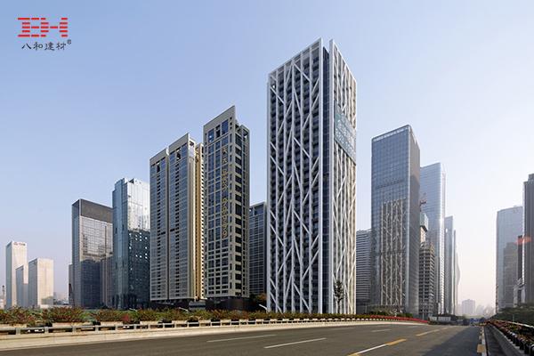 案例欣赏:氟碳铝单板、铝百叶窗装饰深圳金地中心外墙