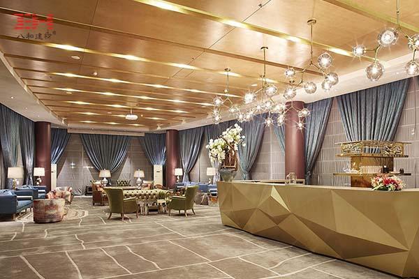 木纹铝单板天花吊顶,欧式古典风格的华龙私人飞机候机厅