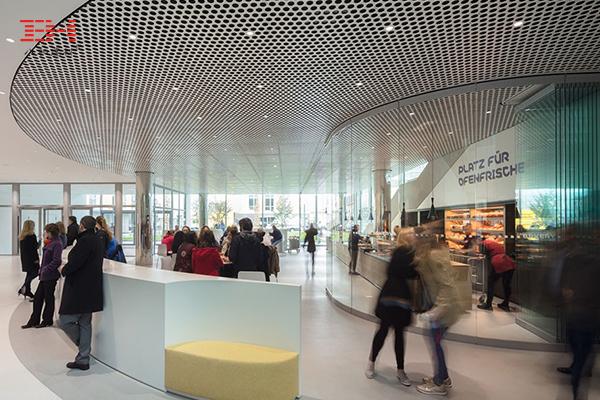 案例欣赏:吸音穿孔铝单板装饰德国Merck创意中心室内天花
