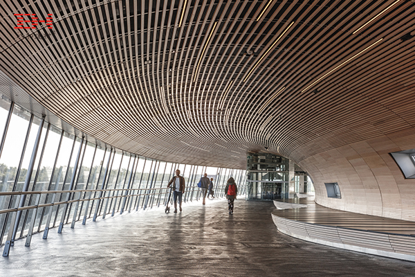 案例欣赏:弧形铝方通吊顶装饰丹麦K?geNord车站通道天花