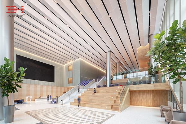 案例欣赏:新加坡科学园大道5号旗舰大楼的室内冲孔吸音铝天花