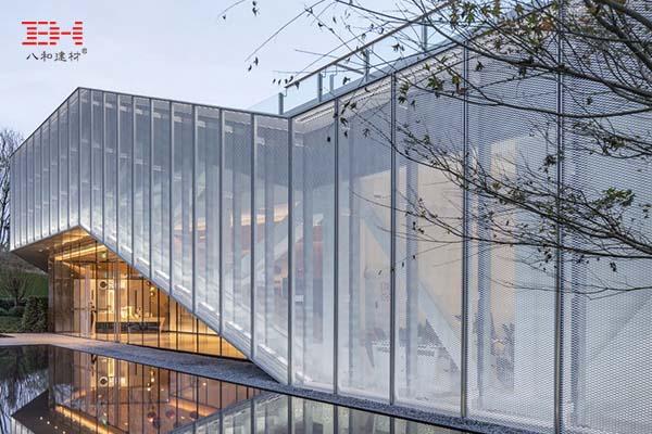 案例欣赏:铝金属拉伸网装饰的重庆悦来社区中心立面