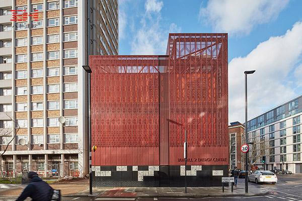 花纹图案穿孔铝单板装饰的英国Bunhill 2能源中心