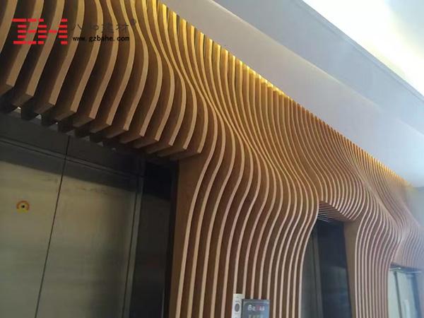 弧形铝方通 八和建材可以做得很完美