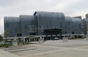 贵州兴义体育中心 - 弧形铝方通吊顶