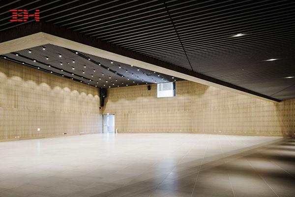 案例欣赏:黑色U型铝方通装饰建筑内部天花