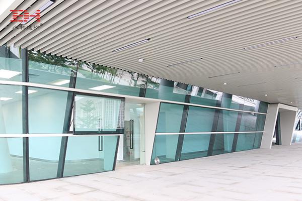 案例欣赏:走廊过道U型铝方通案例欣赏
