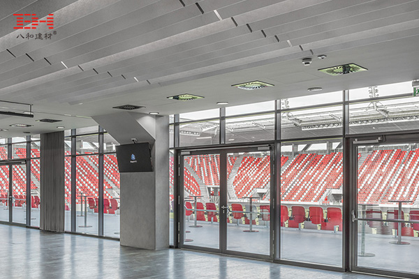 案例欣赏:阳极氧化V型铝方通装饰体育馆内部天花