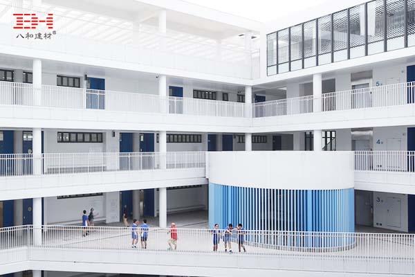 案例欣赏:彩色方管铝方通装饰校园空间