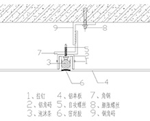 铝单板留缝安装节点
