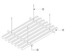 U型铝方通安装节点