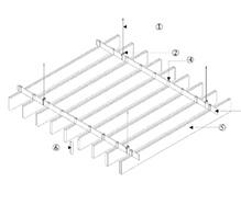 型材铝方通安装节点