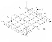 方形铝扣板安装节点
