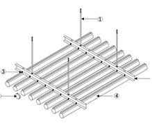 O型铝圆管安装节点